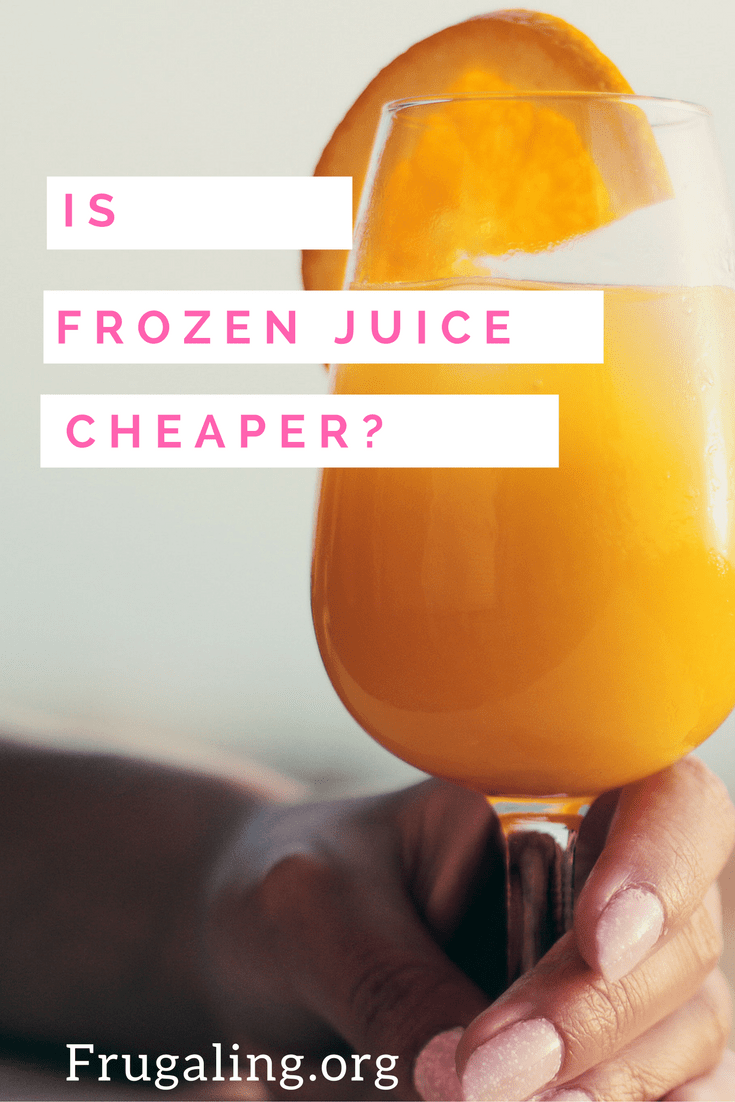Is Frozen Juice Cheaper?